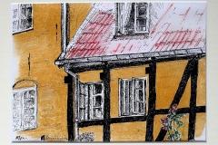 Huisje Mon - detail - DK, 28x20 cm