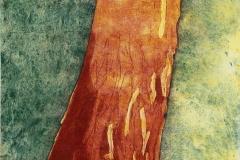 boom aquatint meerkleurendruk