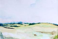 Landschap Mon - DK, 27x19 cm