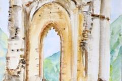 Ruine Condé Fr., 30x40 cm