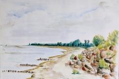 Strand Mon - DK, 40x30 cm