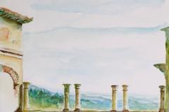 Toscane - uitzicht, 30x20 cm