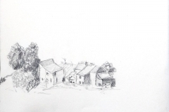 Frans dorpje, 22x17 cm