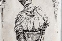 pentekening beeldje St. de C.