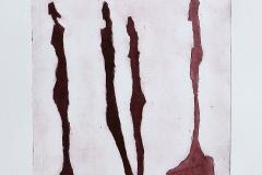 Giacometti vrouwfiguren aquatint bruin
