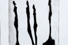 Giacometti vrouwfiguren aquatint zwart