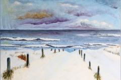 Strandopgang Schoorl - winter, 40x30 cm