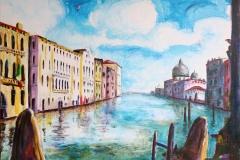Venetie - Canal Grande (privé bezit), 60x50 cm