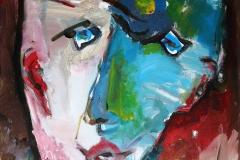Zelfportret - stijl van Lucebert, 50x60 cm